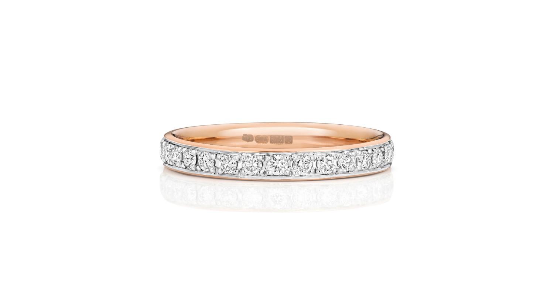 18ct Rose Gold Diamond Full Eternity Ring